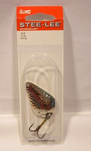 Acme Stee-Lee Hammered Nickel 1//2 oz Spoon Lures Spinner Steelee New