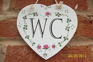 Rustic-Shabby-Chic-Heart-Roses-WC-Toilet-Hanging-Sign-Plaque