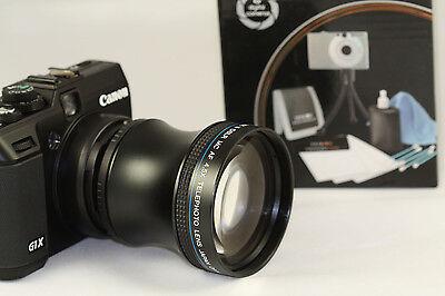 Professional 4.5X SUPER Telephoto HD Lens Kit W/ Adapter Canon G15 Camera G-15