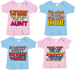 Inktastic My Aunt Love Me Baby T-Shirt Superhero Mothers Day Family Child Infant. Sold by Inktastic. $ $ Inktastic My Aunt And Uncle Love Me With Hearts Infant Creeper Family Cute Baby. Sold by Inktastic. $ $ Inktastic I Love My Auntie Niece Gift Toddler T-Shirt Aunt .