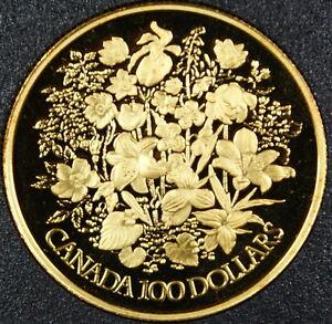 1977 canada 100 dollar proof gold coin silver jubilee in case w coa