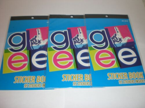 3 PAKAGES OF GLEE STICKER BOOK 95 STICKERS=285 STICKERS ALTOGETHER GREAT NIP