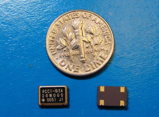 VECTRON 20MHz CMOS VCC1-B3A-20M000, 5x7mm, Qty.10