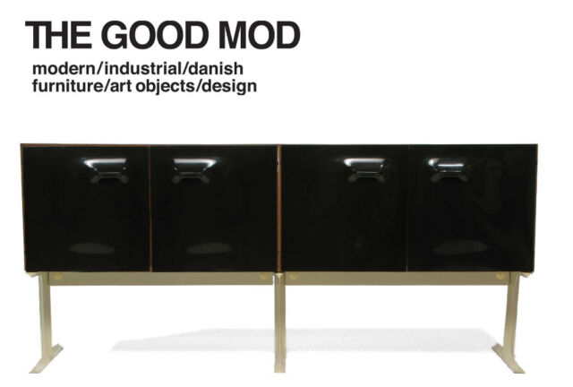 Raymond Loewy DF2000 Credenza   Black Plastic   Space Age Modern Furniture