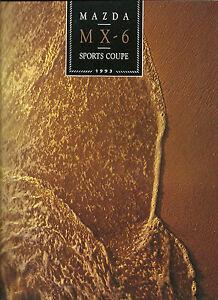 1993-MAZDA-MX-6-SPORTS-COUPE-Brochure-Catalog-LS-MX6-MX-6