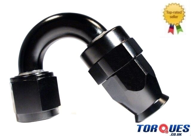 AN-6 (AN6) 150 Degree Stealth Black Teflon Hose Fitting