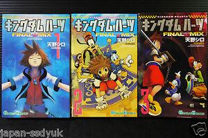 JAPAN-Kingdom-Hearts-Fianl-Mix-Manga-vol-1-3-Complete-Set-Shiro-Amano