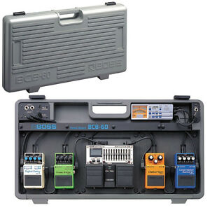 boss bcb 60 pedalboard case for guitar effect pedals with power supply cables ebay. Black Bedroom Furniture Sets. Home Design Ideas