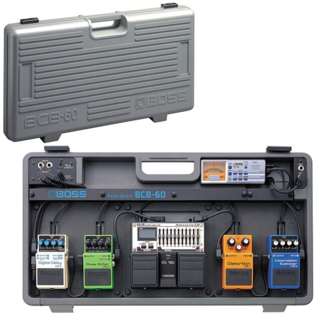 roland boss bcb 60 guitar pedal board case bcb60 for sale online ebay. Black Bedroom Furniture Sets. Home Design Ideas