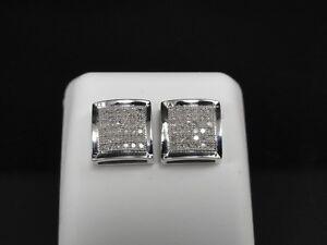 MEN-039-S-GENUINE-DIAMOND-STUDS-9MM-4-PRONG-EARRINGS-NEW