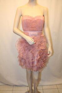 New Bcbg Max Azria Pleated Organza Bustier San6k532 Dress