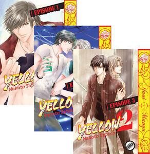 Yellow-2-Vol-1-2-3-Graphic-Novel-Yaoi-Manga-NEW