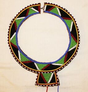 AFRICAN-MAASAI-MASAI-BEADED-ETHNIC-TRIBAL-WEDDING-NECKLACE-JEWELRY-KENYA-M04