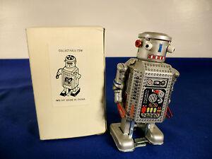 NIB-Robot-Vintage-Walking-Wind-Up-Tin-Toy-MS-249-NOS-FREE-SHIPPING