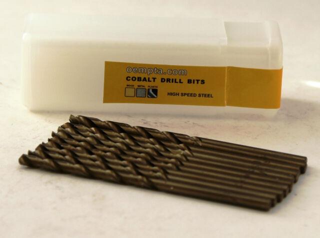 """5/32"""" Cobalt Drill Bit - M35 High Speed Steel - 10 pk"""