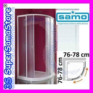 Box Doccia Modello Ciao.Dettagli Su 3s Box Doccia Samo Modello Ciao Cristallo Stondato Tondo Quadrato Da 76 A 78 Cm