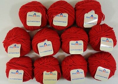 11 BALLS VINTAGE PINGOUIN AUTHENTIQUE WOOL YARN  (#0712)