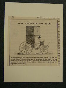 handmade-greetings-card-with-ANTIQUE-PUNCH-CARTOON-hack-brougham-for-sale-B