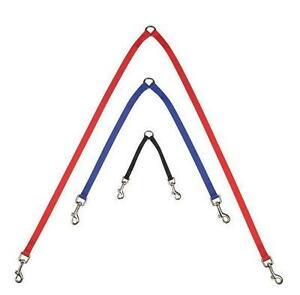 LEASH-COUPLER-2-Way-Double-Dog-Lead-US-SELLER-Choose-Size-Color-Walk-Two-Dogs