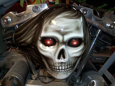 chopper bobber harley custom  skull S&S aircleaner cover