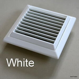 Outside vent grille white wall ventilation vent damp mould for Furniture covers air vent
