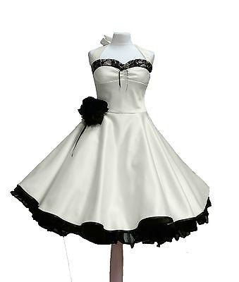 Rockabilly Brautkleid knielang Hochzeitskleid 50er ivora creme beige kurz