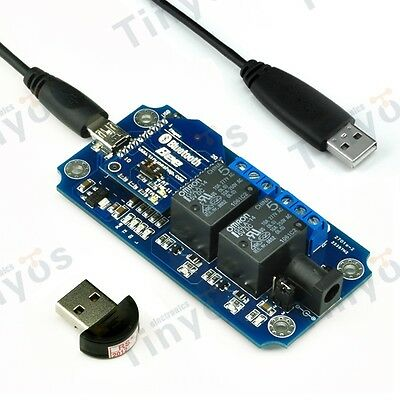 2 Channel USB/Wireless 5V Relay Module Bluetooth Remote Control Kit- Android/iOS