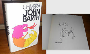 SIGNED-INSCRIBED-DATED-Chimera-by-John-Barth-1st-1st-Edition-1972