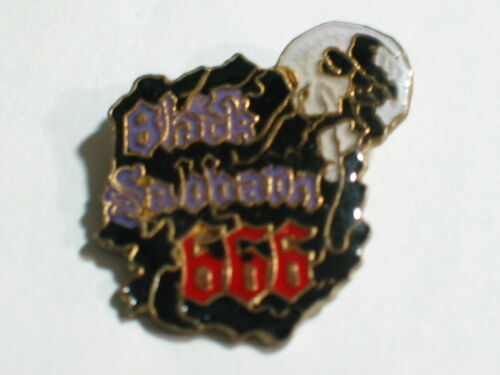 Black Sabbath # 666 Rock Group Skull Pin (h)