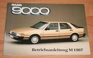 Saab-9000-Modell-1987-Betriebsanleitung-Bedienungsanleitung