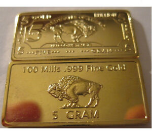 5-Gram-999-24k-100-Mills-Fine-Gold-Buffalo-Art-Collection-Bar