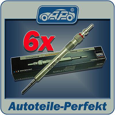 6x Glühkerze BERU für AUDI A6 4F  2,7TDi 3,0TDi + Allroad ###