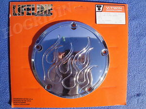 chrome-flame-derby-cover-5-hole-Harley-dyna-softail-touring-fatboy-electra-glide