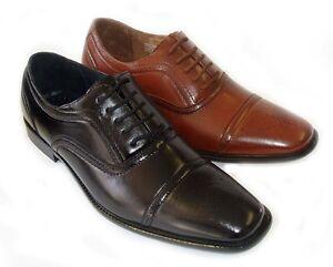 NEW-DELLI-ALDO-MENS-LEATHER-LACE-UP-OXFORDS-CAP-TOE-DRESS-SHOES-2-COLORS