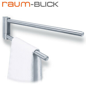 zack handtuchstange schwenkbar fresco edelstahl matt 40199 handtuchhalter ebay. Black Bedroom Furniture Sets. Home Design Ideas