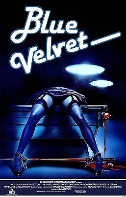 BLUE VELVET Movie Poster 1986 David Lynch Dennis Hopper