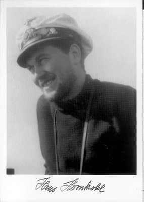 U-boat hand signed photo WWII WW2 Captain HORNKOHL UB10