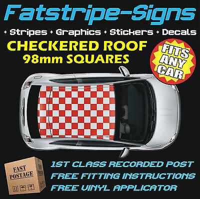 SUBARU IMPREZA CHECKERED ROOF CAR GRAPHICS STRIPES DECALS STICKERS WRX STI 2.5 D