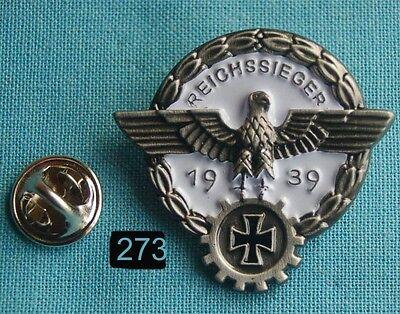 Reichssieger 1939 Siegesabzeichen f. Wettkampf Adler Pin Anstecker Badge # 273