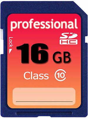 New 16GB Class 10 SD HC (SDHC) High Speed Professional Flash Memory Card 16G