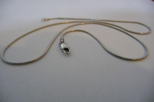 "3.3 Grams Hallmarked 375 Ola Gorie 41cm 9ct White Gold Snake Chain 16/"""