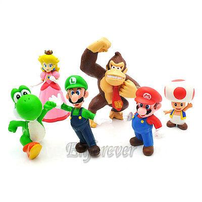 """1.5-2.5"""" New Figure Lot 6 Luigi Super Mario Bros^MS77"""