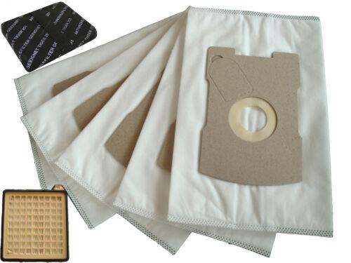 Tessuto non tessuto 5-Sacchetti Di Filtro Sacchetti Microfilter filtri a carbone adatto Vorwerk Tiger 260