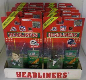 Vintage-12-NFL-FOOTBALL-HEADLINER-Figures-1998-Collection-Edition-Memorabilia