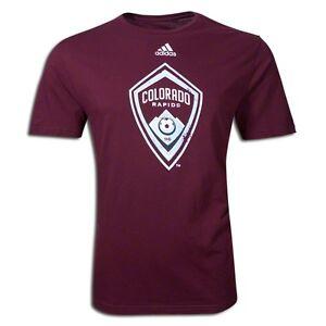 adidas-MLS-Colorado-Rapids-2012-Distressed-Soccer-Fan-Shirt-Brand-New-Burgundy