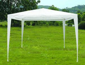 3m-x-3m-White-PE-Tarpaulin-Like-Material-Shelter-Cover-Garden-Gazebo-Marquee-NEW