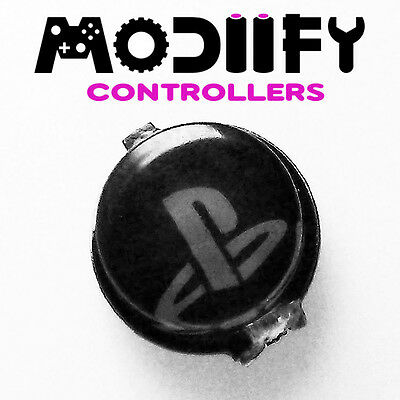Custom Playstation PS3 Controller PS Home Button Middle (Black)
