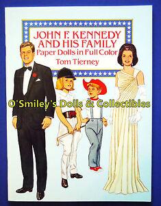 JOHN F KENNEDY & HIS FAMILY 1990 Full Color JFK PAPER DOLLS Tom Tierney_UNCUT