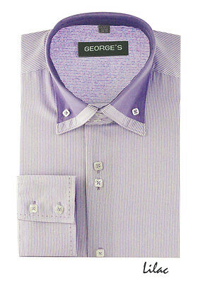 Men's Stylish George Fashion Dress Shirt  All Sizes and 5 Colors 602
