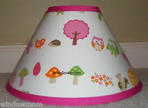 Love-N-Nature-Owl-Lampshade-made-with-Target-Circo-sheet-fabric-girls-lamp-shade